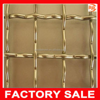 galvanized / stainless steel crimped wire mesh barbecue grill net