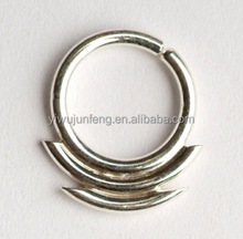 Nose Ring with double lines sharp edges Septum Piercing For Indian