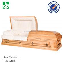 JS-A2450 funeral promotional hand carved wooden casket