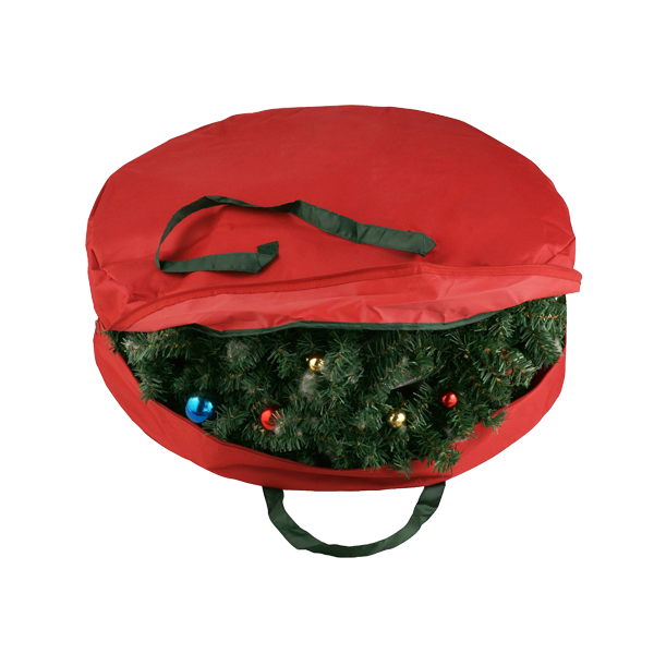 Non-tissé De Noël Guirlande Sac De Rangement Sac De Rangement En Tissu pour Guirlande De Stockage Résistant À La Déchirure