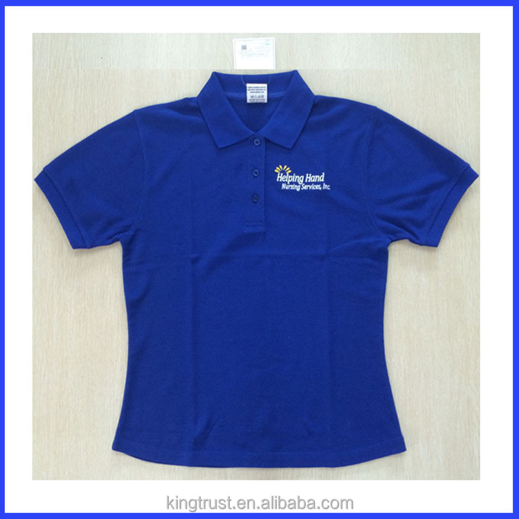 Men and women high end quality embroidered polo shirt for High quality embroidered polo shirts