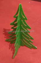 High Quality MDF Chirstmas Artficial Wooden Tree Color Customize Home Decoration Pieces On Sale Gift Crafts