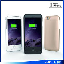 MFI FCC RoHS approved rechargeable Battery case for iPhone 6 real 3200 mAh capacity rechargeable battery case for iphone 5