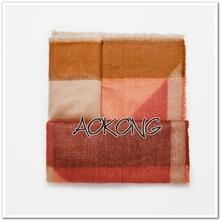 Hot sale women winter scarf fashion brand square scarf geometric acrylic wraps