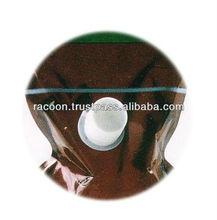 Pour spout and cap (PT-20-85) retrofit easily from plastic bags to standing spout bags