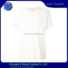 Casual big pocket blank dri fit t-shirts wholesale in china