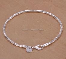 3MM 925 silver snake bracelet
