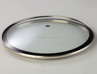 Chinese factory high quality transparent tempered cookware part glass lid