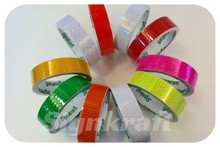 2015 Special promotion PVC material, self adhesive 1500 color Reflective Tapes, for vehicles, helmet stickers