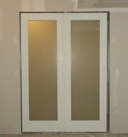 factory price aluminum smoked glass interior doors from China supplier