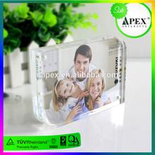 Alta calidad cubo de acrílico transparente foto de familia