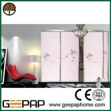 MDF board customized sliding door wardrobe closet