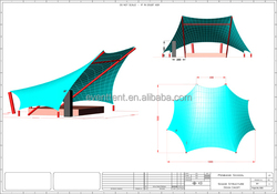 New design wonderful steel structure crazy selling space grid frame structure for tennis courts