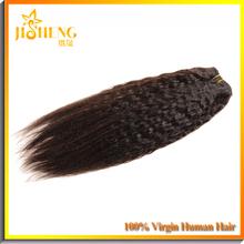 JS Factory Price 100% Human Hair Silky Perm Ebony Yaki Best Selling Human Hair Weave