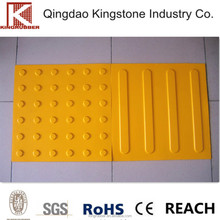 rubber tactile tiles with solid adhesive