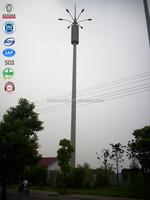 Hot dipped galvanized pillar telecom 4g antenna monopole steel utility poles
