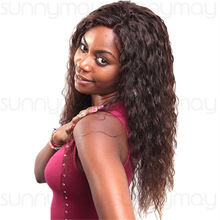 Qingdao Sunnymay Factory Hand Made Wig Top Grade Brazilian Virgin Hair Loose Curly Full Lace Human Hair Wigs