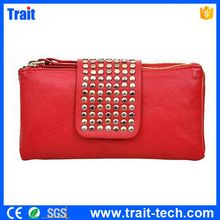 Korean Style Design Women Lady Rivet Handbags Casual Wallets Purse