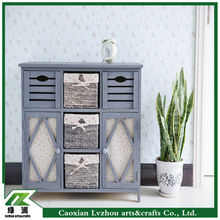 Hot Sale Home Furniture Grey Wooden Storage Cabinet