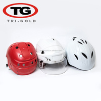 Hot sale Hockey helmet with stainless steel cage / Glass skiing skating outfit factory