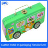 Wholesale Cheap Children Rectangle tin cute can handle bus shape pencil case