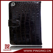2013 hot sale snakeskin card leather tablet case for ipad mini
