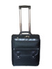 black nylon pilot flight bag with 2 wheels