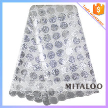 Mitaloo MCP0125 New Design Sequins Cupion Lace High Quality Silver Cupion Lace On Sale