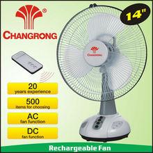 14 inch rechargeable fan emergency fan with handle&remote