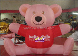 Giant advertising inflatable bear