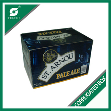 CUSTOM PRINTING 24 PACK BOTTLES CORRUGATED MOVING CARTONS 330ML JUICE PACKING BOXES WITH DIVIDERS