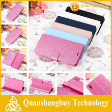 Hot sale High Quality Luxury Stand Silk Leather Flip Case For Lenovo S850 S850T