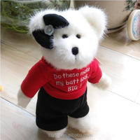 Wholesale Mini Plush Teddy Bear with t shirts