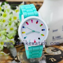 Cute watch women dress watches quartz analog silicone