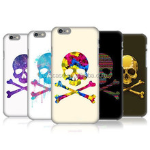 Classical Skull Design With Corlour Drawing Printing PC hard Case For Iphone 6 Case 2015