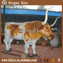 theme park mechanical animals moving simulation cow