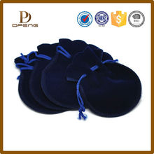Hot sale custom velvet pouch jewelry gift bag/jewelry bag with double drawstring