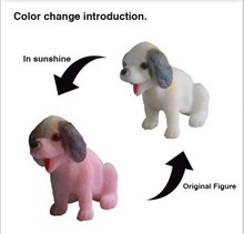 collection OEM novelty puppy ,plastic solar puppy