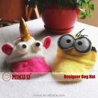 New Fashion Pet Dog Hat, Funny Cat Hat, Stylish Helmet Minions Cap and Hat for pet products