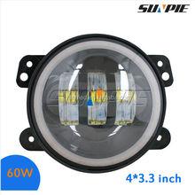 30W 4'' auto round LED Fog Light with angle eye for Jeep Wrangler JK