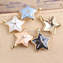 Customize Colorful Enamel Starfish Shape Bag Charm Shape Bag