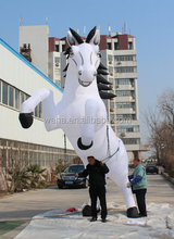 5m high giant inflatable jumping horse for advertising white color steed courser