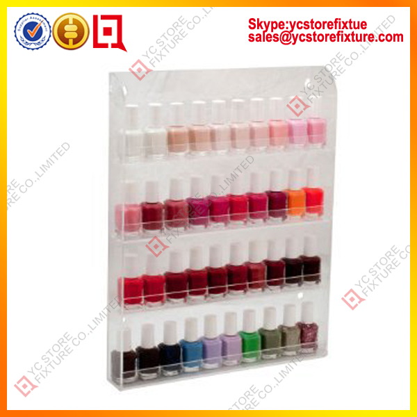 Acrylique tag re murale pour vernis ongles support d - Etagere murale pour vernis a ongle ...