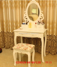 New style most popular black modern dressing table with mirrors