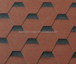 2015 hot sale shadow color beautiful hexagonal asphalt roofing shingles manufacturer