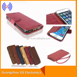 Flip Wallet Pu Smart Leather Cover Case With Stand Function Retro holster For Iphone 6s