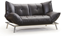 America Style Black Queen Size Sofa Bed