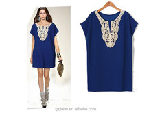 New 2015 Women Casual Summer Dress Plus Size Lace Dresses Vestidos O-Neck Sexy Mini Black & Blue Big Woman 7XL 6XL 5XL 4XL XXXL