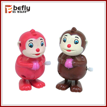 Russian new year gift wind up plastic monkey toys