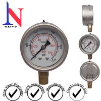 Vibration-proof pressure gauge of 100bar, waterproof gauge